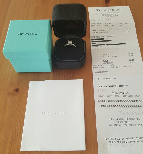 Tiffany & Co. 0.71ct E/VS2 Princess Cut Diamond Engagement Ring