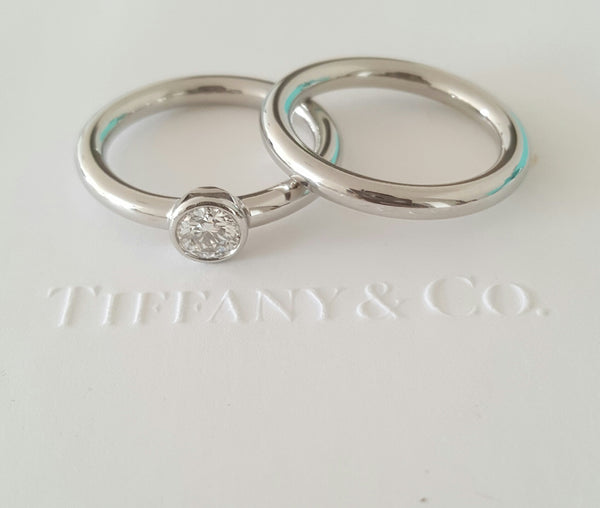 Tiffany & Co. Bezet Style Wedding Anniversary Platinum Band Size 6