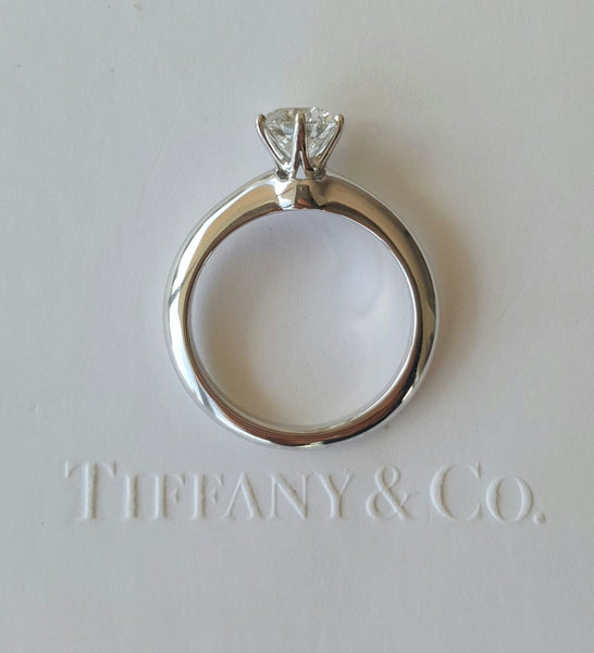 Vintage Tiffany & Co. Classic Diamond Engagement Ring.