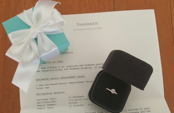 Second Hand Tiffany & Co Classic Diamond Engagement Ring