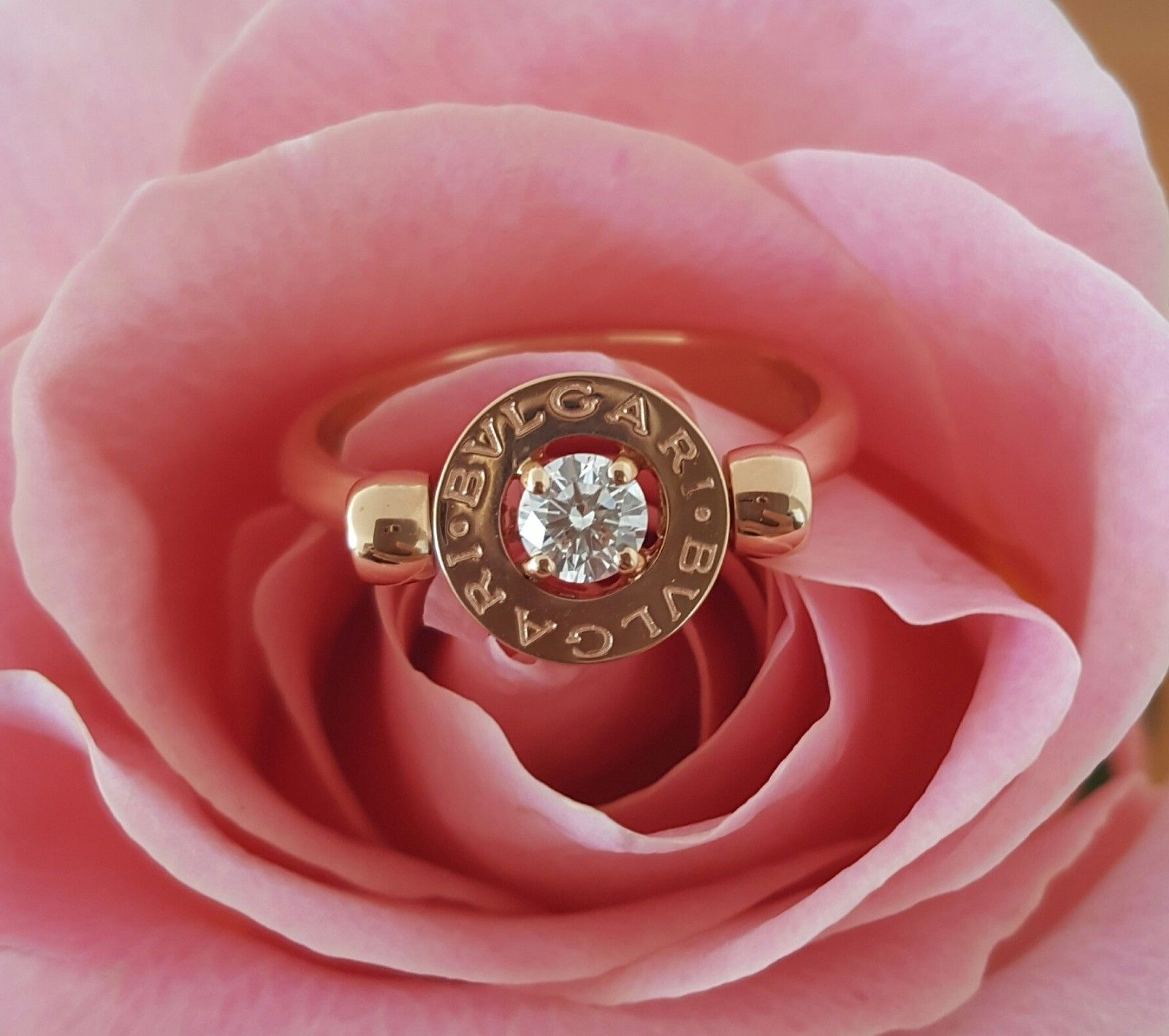 Buy Bvlgari Diamond 18ct Rose Gold Ring - Catherine Trenton ...