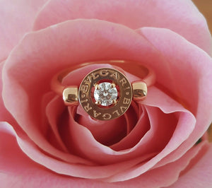 Bulgari Bvlgari 0.25ct Diamond 18ct Rose Gold Ring REF: AN853336 $4350 US