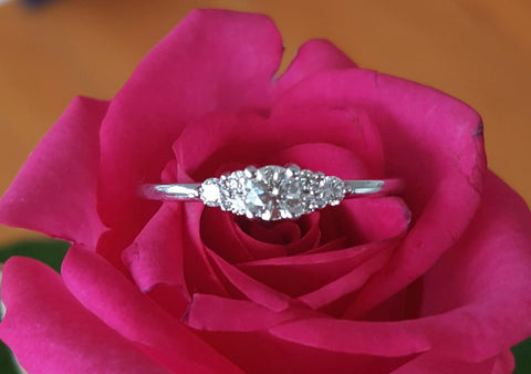 Save money on Vintage, Pre Loved and Second Hand Hearts on Fire Diamond Engagement Ring.