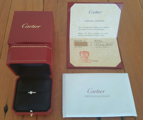 Cartier Diamants Legers Heart Diamond/Engagement/Dress Ring 18k White Gold