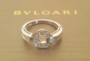 Pre Loved, Vintage or Near New Bvlgari Bulgari Diamond Engagement Ring from Catherine Trenton Jewellery. Save money on Luxury.