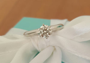 Pre Loved Tiffany & Co Solitaire Diamond Engagement Ring.