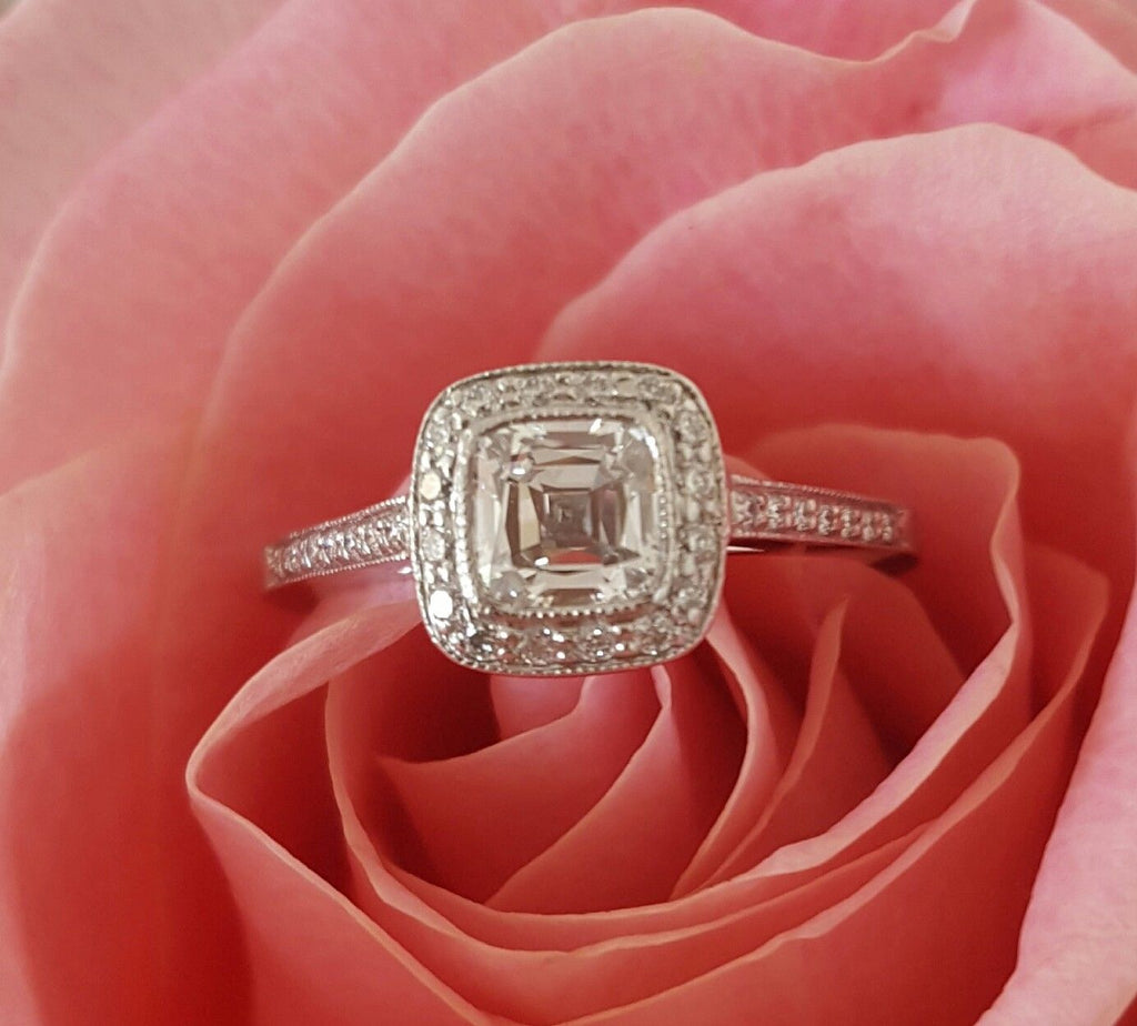 Tiffany & Co. 0.87tcw F/VVS1 Legacy Diamond and Platinum Engagement ...
