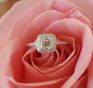 Tiffany & Co. 0.87tcw F/VVS1 Legacy Diamond and Platinum Engagement Ring