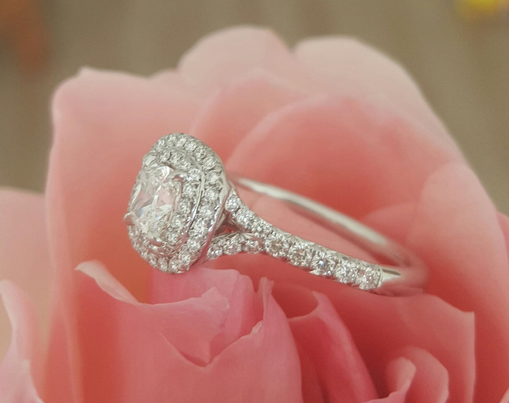 Buy Tiffany & Co. Soleste Diamond Ring - Catherine Trenton Jewellery ...
