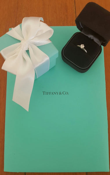 Save money on Luxury. Tiffany & Co. Pre Loved Diamond Classic Engagement Ring.