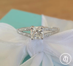 7b496590b Tiffany & Co. Lucida Split Shank 0.60tcw G/VS2 Diamond Engagement ...