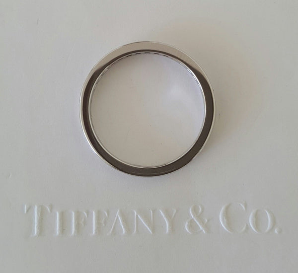 Tiffany & Co. 0.17tcw Diamond Half Eternity/Wedding/Anni Band Platinum RRP $3800