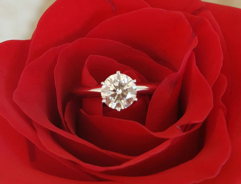 Vintage Tiffany & Co. Solitaire Diamond Engagement Ring.