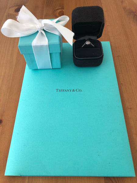 Tiffany & Co. 0.51tcw H/VVS1 Diamond and Platinum Legacy Engagement Ring