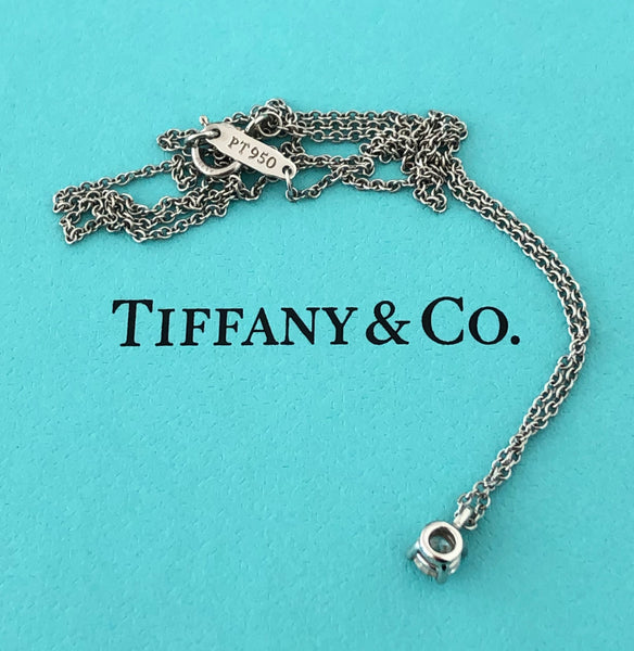 Tiffany & Co. 0.20ct VVS1 Diamond Pendant in Platinum 16 inch chain with Cert/Val/Packaging