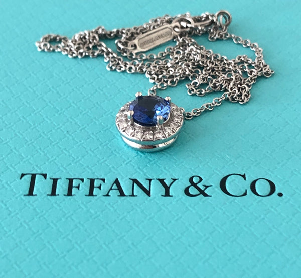 Tiffany & Co. 0.79tcw Tanzanite & Diamond Soleste Pendant in Platinum RRP $5800
