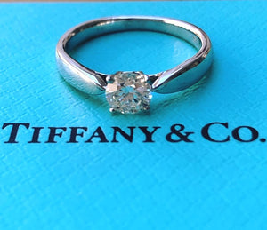 Tiffany & Co. 0.40ct I/VS1 Diamond Harmony Engagement Ring PT950 Cert/Val/Boxes
