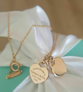 For competition: Tiffany & Co. 18ct Yellow Gold Double Mini Return To Tiffany Heart Necklace