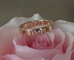 Tiffany & Co. 18ct Rose Gold and Diamond Atlas Pierced Ring Size 5.25