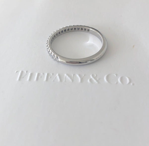 Tiffany & Co. Soleste Diamond Half Eternity Band in Platinum