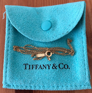 Tiffany & Co. 16inch 18ct Gold Fine Oval Link Chain