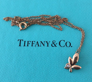 Tiffany & Co. 18ct Rose Gold and Diamond Paloma Picasso Olive Leaf Pendant
