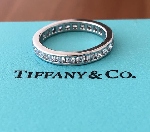 Tiffany & Co. 0.93tcw Diamond Full Eternity Band Size 5 Val/Boxes RRP $8200