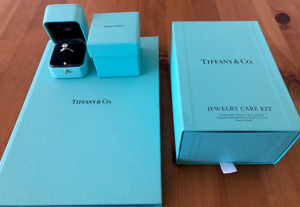 Tiffany & Co. 1.20ct I/VS1 Diamond Solitaire Engagement Ring Platinum Cert/Val/Boxes/Gift
