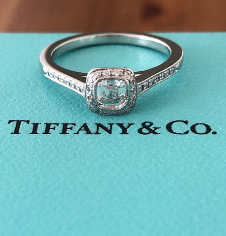 Tiffany & Co. 0.41tcw G/VVS1 Legacy Diamond Engagement Ring Platinum