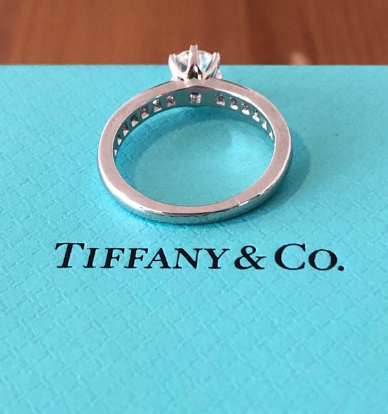 Tiffany & Co. 0.67tcw G/VS2 Diamond Ring with Diamonds on the Band Platinum