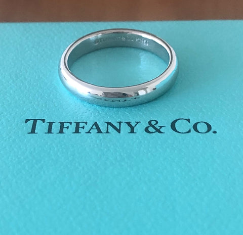 Tiffany & Co. 3mm Lucida Platinum PT950 Band with Tiffany Box $1950