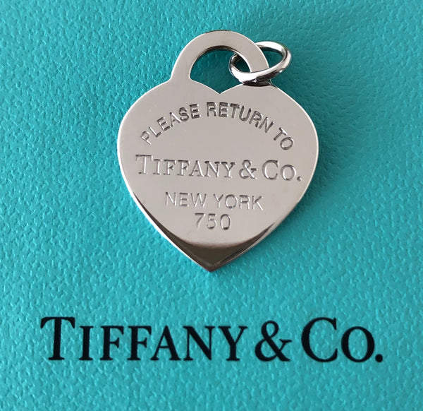 Tiffany & Co. 18ct White Gold 'Return To Tiffany' Medium Heart Pendant Necklace