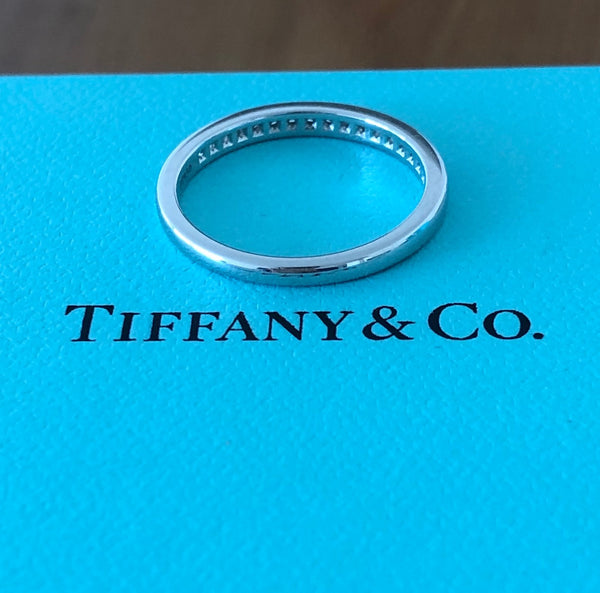 Tiffany & Co. 2mm 0.17tcw Diamond Platinum Band RRP $4050