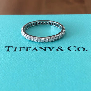 Tiffany & Co. Full Diamond Eternity Soleste Band Size 4.5
