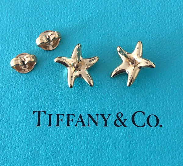 Tiffany & Co. 18ct Solid Yellow Gold Elsa Peretti Star Fish Earrings