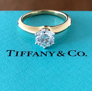 Tiffany & Co. 0.89ct G/VS1 Diamond Round Solitaire Engagement Ring Cert/Val/Rcpt