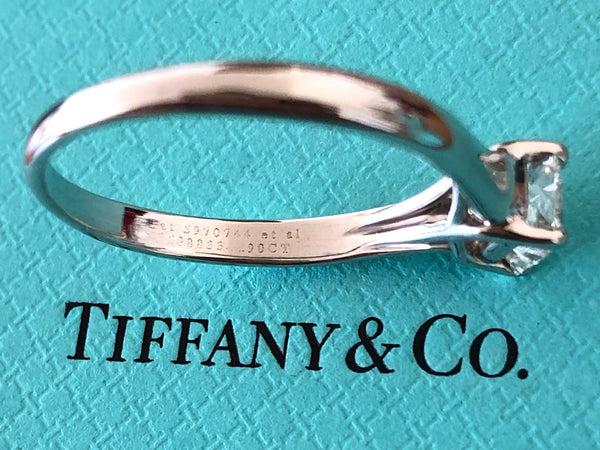 Tiffany & Co. 0.90ct H/VS1 Diamond Lucida Solitaire Engagement Ring Val/Cert/Rcp