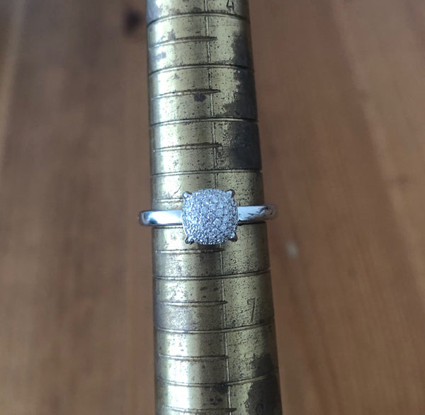 Tiffany & Co. Diamond and 18ct White Gold Paloma Picasso Sugar Stack Pave Ring