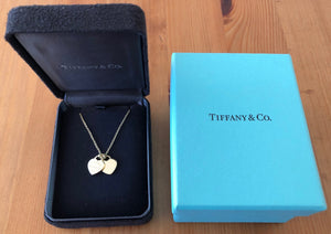 "Tiffany & Co. 18ct Yellow Gold ""Return to Tiffany"" Mini Double Heart Pendant"