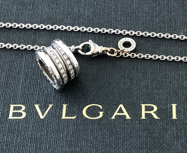 Bvlgari Bulgari Bzero1 0.41tcw Diamond & 18ct White Gold Necklace Pend RRP $9350
