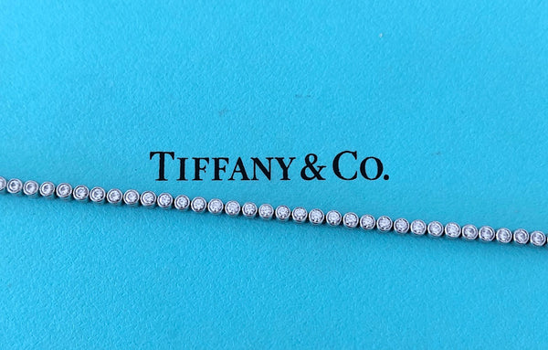 Tiffany & Co. 1.41tcw Diamond Jazz Tennis Bracelet Platinum Receipt/Boxes $15700