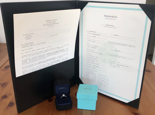 Tiffany & Co. 0.93tcw G/VVS1 Diamond Novo Engagement Ring Platinum Cert/Val/Box
