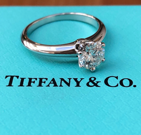 Tiffany & Co. 0.70ct G/VS1 Diamond Solitaire Engagement Ring PT950 Cert/Val/Rcpt/Boxes