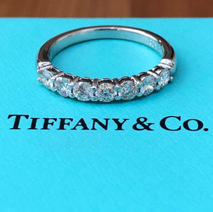 Tiffany & Co. 0.57tcw Diamond Embrace 3mm Half Eternity Band PT950 RRP $8900