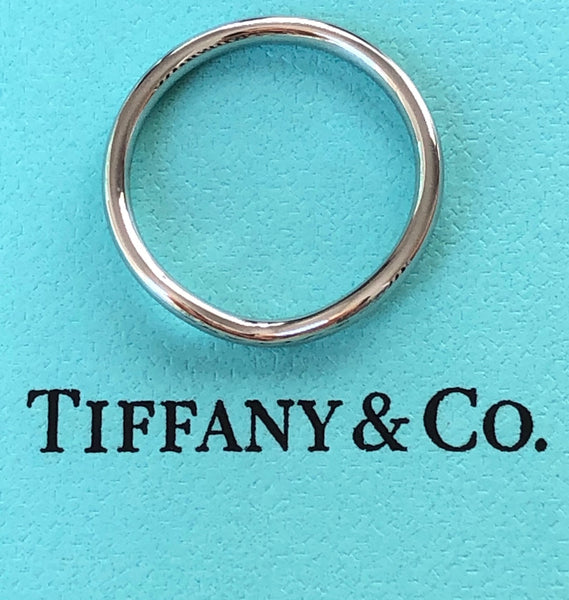 Tiffany & Co. Elsa Peretti Curved 2mm Platinum PT950 Wedding Dress Band $2100