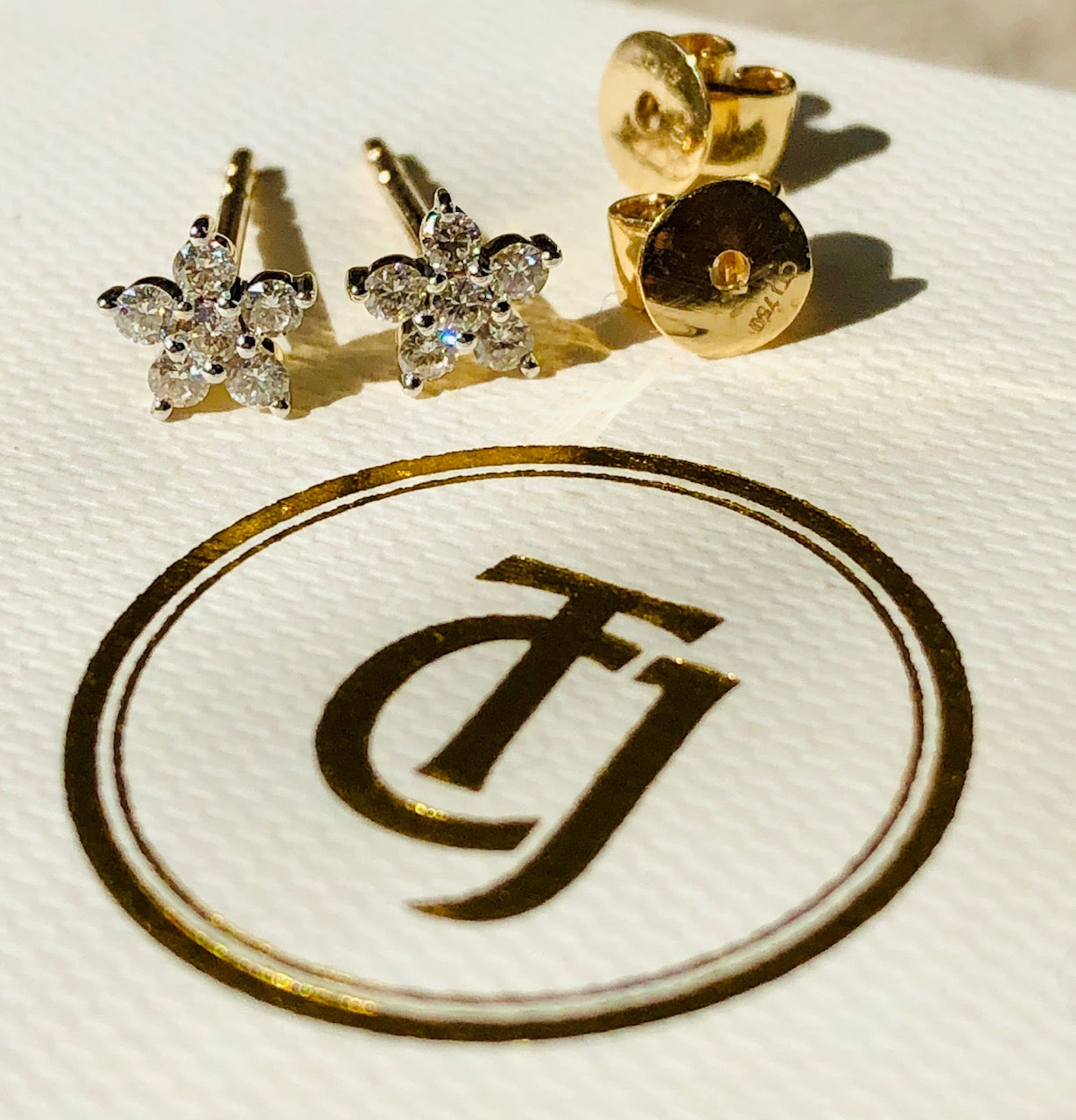 0.28tcw G/SI1 Genuine Diamond 'Star Bright' Earrings 18ct 18k Solid Yellow Gold