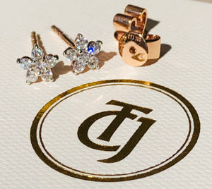 0.28tcw G/SI1 Genuine Diamond 'Star Shine' Earrings 18ct 18k Solid Rose Gold