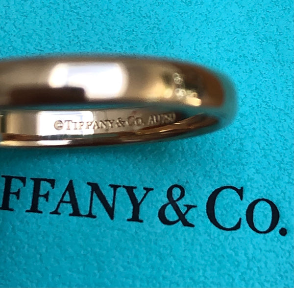 Tiffany & Co. 3mm 18ct Rose Gold Wedding Band Ring