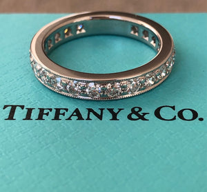 Tiffany & Co. 1.20tcw Diamond Legacy Full Eternity Platinum Ring RRP $11500