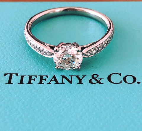 Tiffany & Co. 0.88tcw G/VS1 Diamond Harmony Ring w/ Accent Diamonds Val/Cert/Box